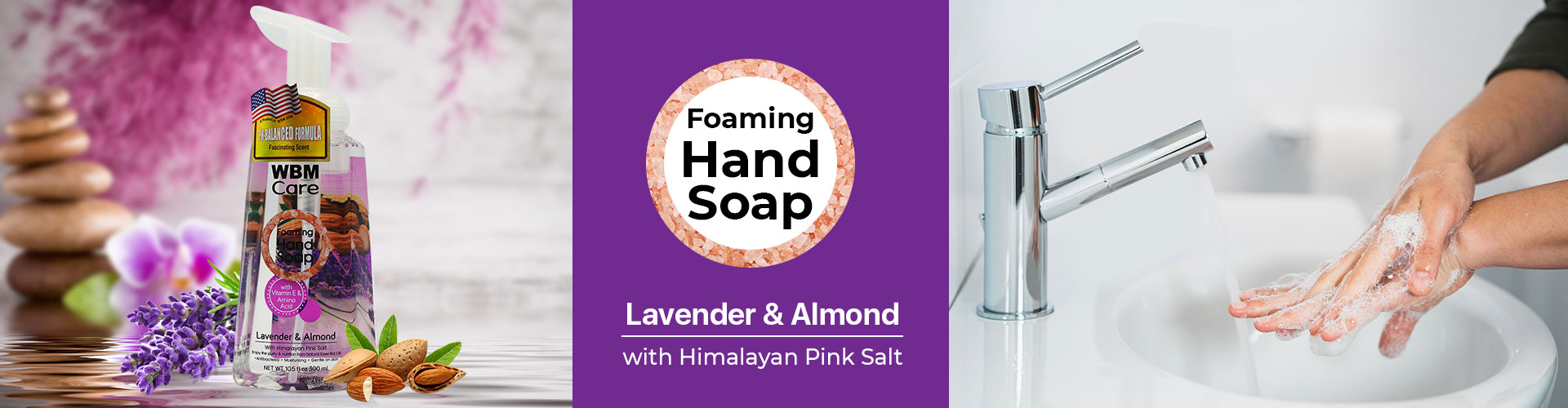 Foaming Hand Wash, Lavender and Almond